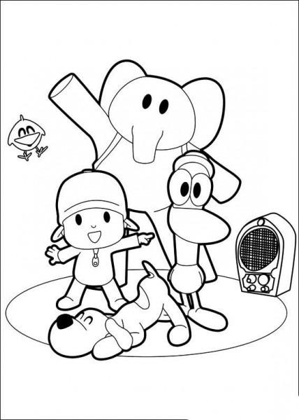 Dibujos De Pocoyó Para Colorear Y Pintar  Imprimir Dibujos De
