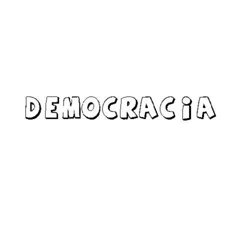Democracia  Dibujos Para Colorear