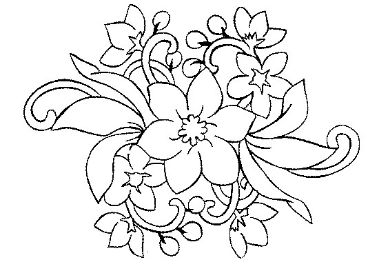 60 Dibujos De Flores Para Colorear