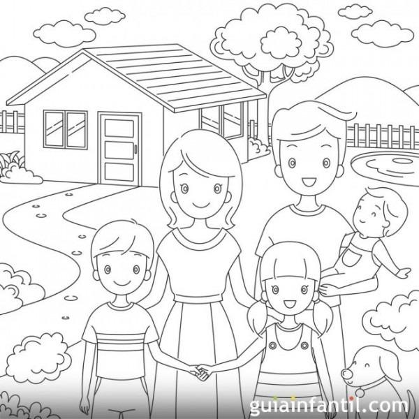 Dibujos Para Colorear  Derecho De Los Niños A Tener Una Vivienda
