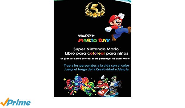Amazon Com  Super Nintendo Mario Libro Para Colorear Para Niños