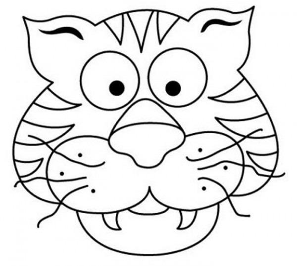 Mascara Tigre 300x269 Mascaras De Carnaval Para Colorear