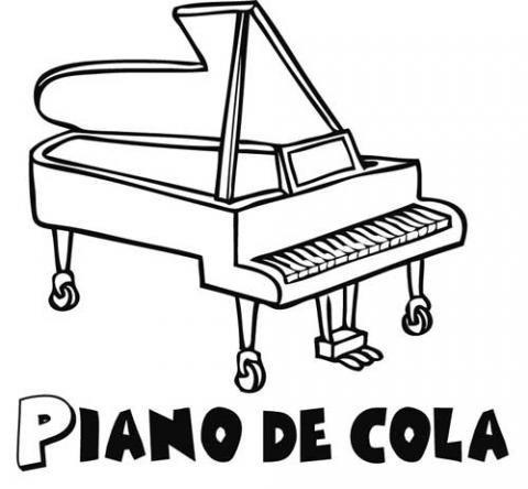 Dibujos Para Colorear De Instrumentos Musicales
