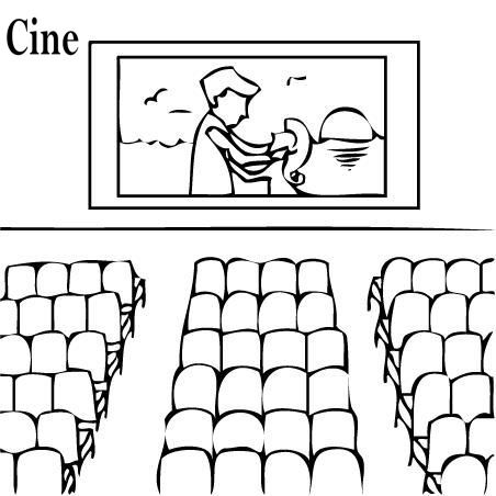 Pinto Dibujos  Cine Para Colorear