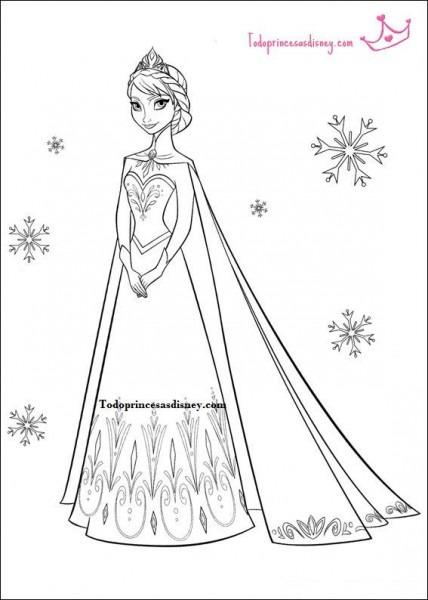 Princesas Para Pintar Frozen