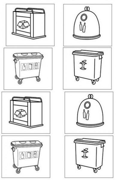 Dibujos De Contenedores De Reciclaje Para Colorear