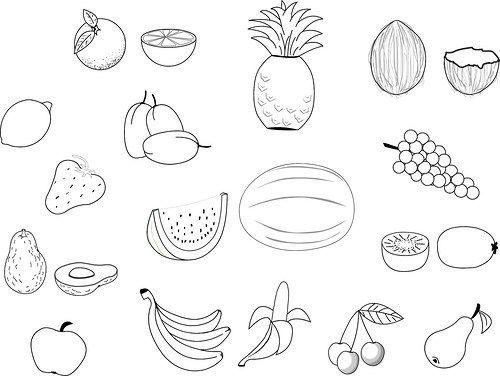 Dibujos E Imágenes De Frutas Para Colorear E Imprimir Gratis Para