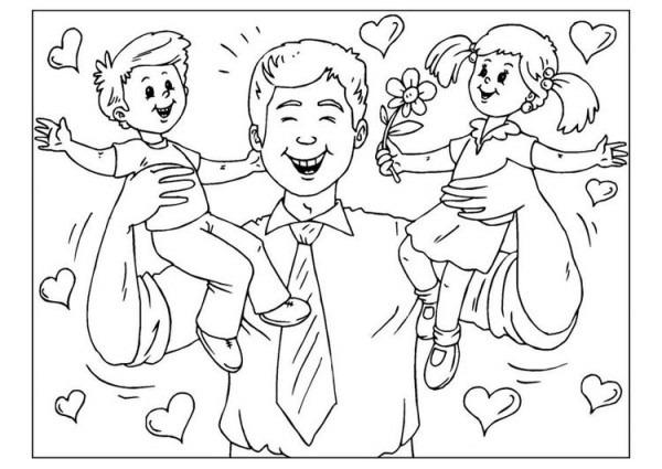 Dibujo Para Colorear Día Del Padre