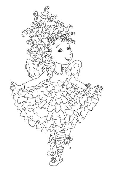Click To See Printable Version Of Fancy Nancy Curtseying Coloring