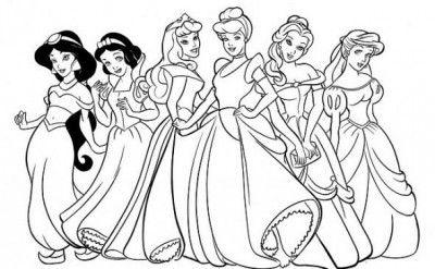 Dibujos Para Pintar Princesas Disney