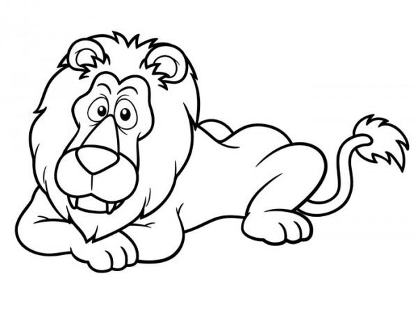 Póster Ilustración Del León De Dibujos Animados