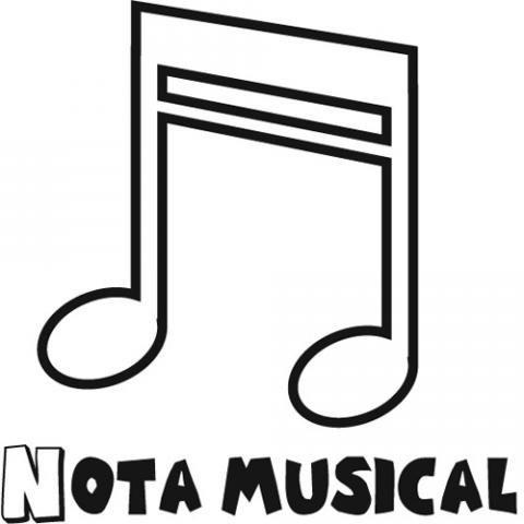 Dibujos De Nota Musical Para Colorear Con Los Niños
