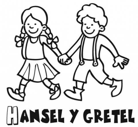 Dibujos De Cuentos Infantiles Para Colorear  Hansel Y Gretel