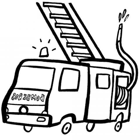 Dibujos De Un Camión De Bomberos Para Imprimir Y Colorear