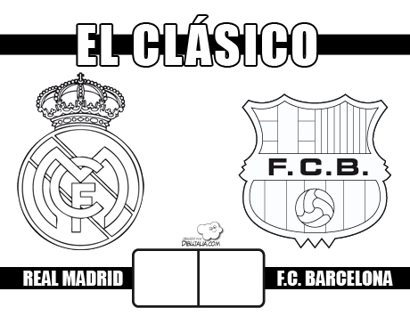 Carteles Del  Clásico  Real Madrid Contra Fc Barcelona