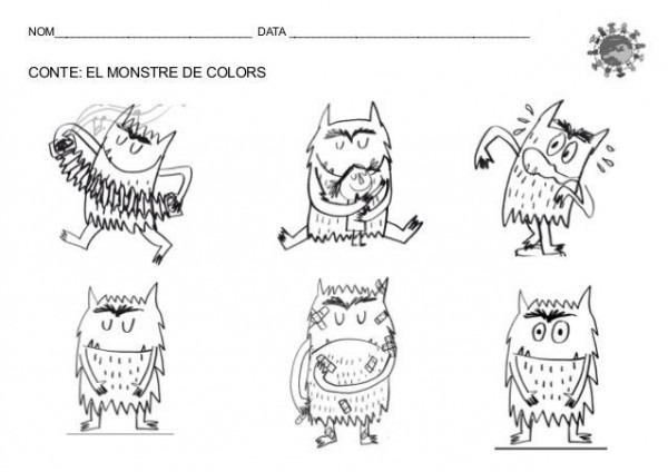 El Monstruo De Colores Para Colorear