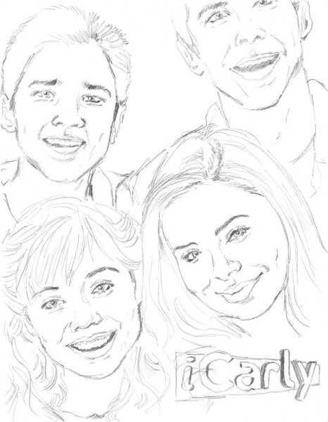 Icarly Printable Coloring Pages