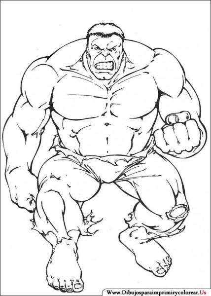 Dibujos De Hulk Para Imprimir Y Colorear