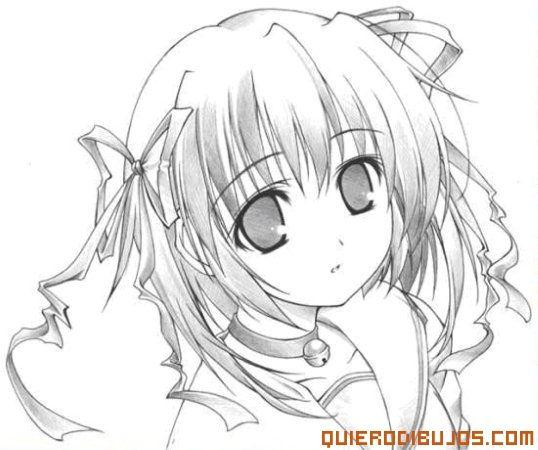 Chica Anime Para Colorear