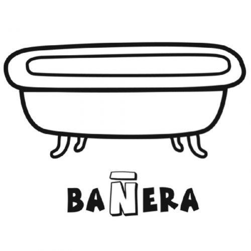 Dibujo Para Colorear De Una Bañera
