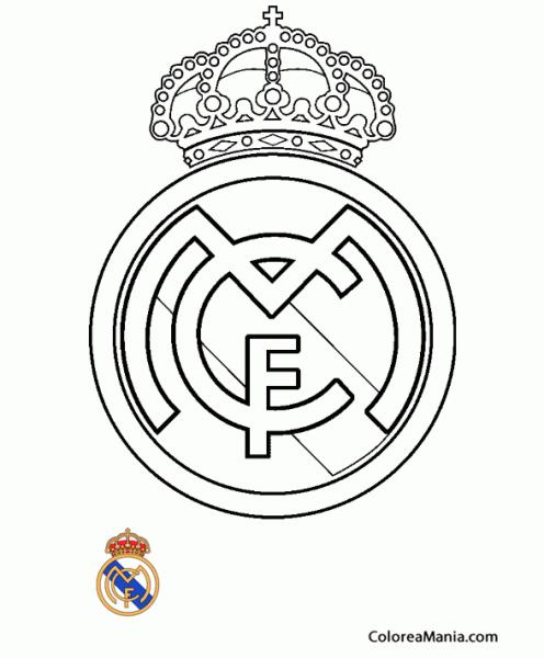 Colorear Club De Fútbol Real Madrid (escudos Equipos De Fútbol