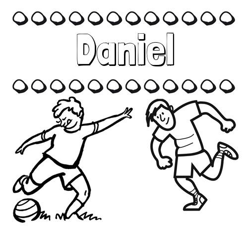 Nombre Daniel  Dibujar Las Letras De Nombres Y Fútbol