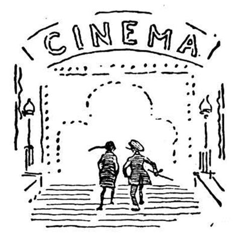 Cine Dibujo Para Colorear