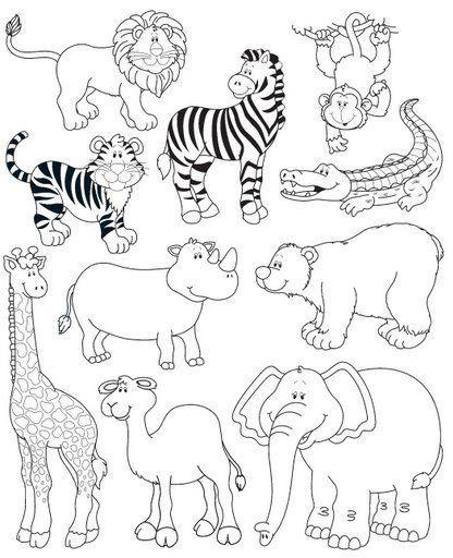 Cumpleaños De Animales De La Selva Para Colorear