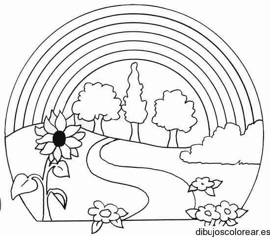 Lindos Paisajes Para Dibujar Para Niños