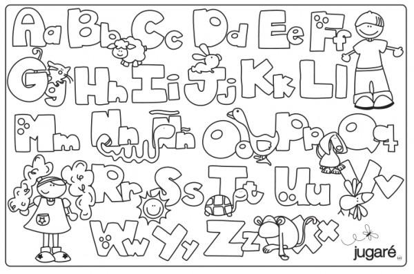 Letras Del Alfabeto Espa Ol Para Colorear
