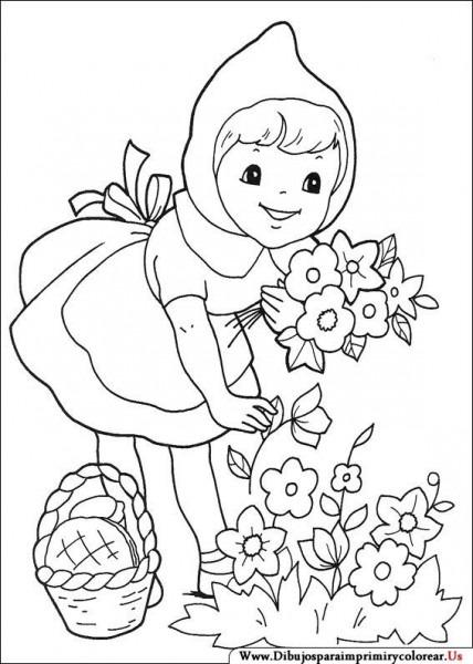 Dibujos De Caperucita Roja Para Imprimir Y Colorear