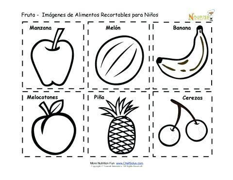 Dibujos Para Colorear Y Recortar Preescolar