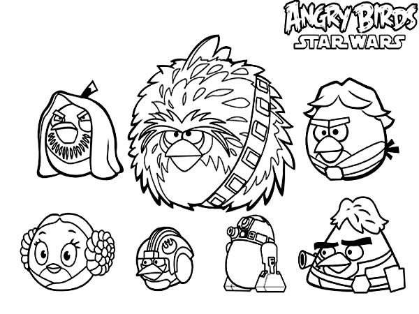 Angry Birds Star Wars Coloring Pages 10  23032