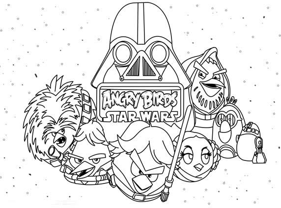 Angry Birds Star Wars Para Colorear Y Pintar