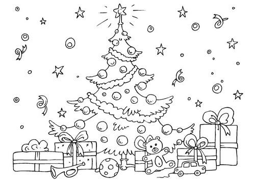 Blog De Los Niños  Dibujos De Navidad Para Colorear