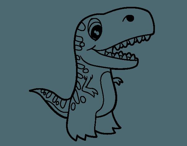 Dibujo De Tiranosaurio Bebé Para Colorear