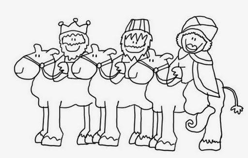 Maestra De Infantil  Reyes Magos Para Colorear