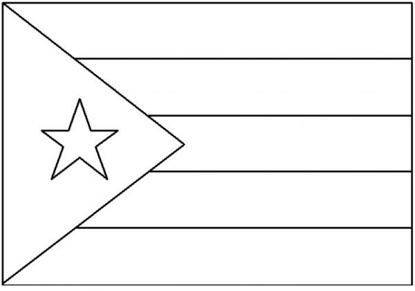 Geography Blog  Bandera De Cuba Para Colorear