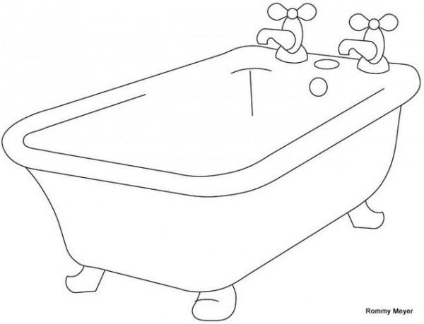 Baño Para Colorear Awesome Dibujo Para Colorear De Tina De Baño