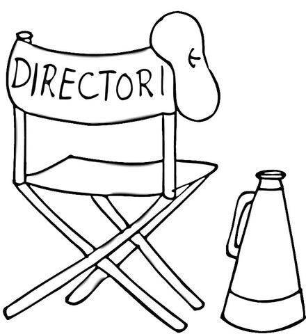 Dibujo De Boina, Silla Plegable Y Megáfono De Director De Cine