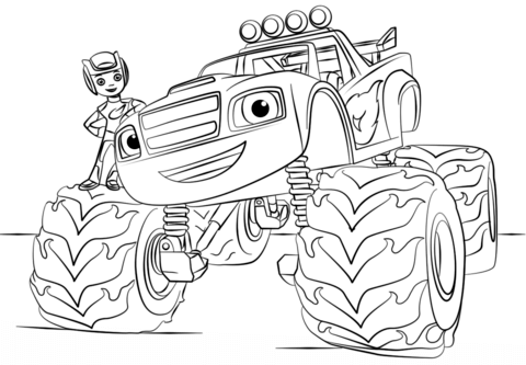 Dibujo De Blaze Monster Truck Para Colorear
