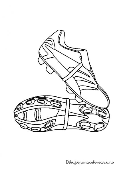 Dibujos Para Colorear De Botas De Futbol