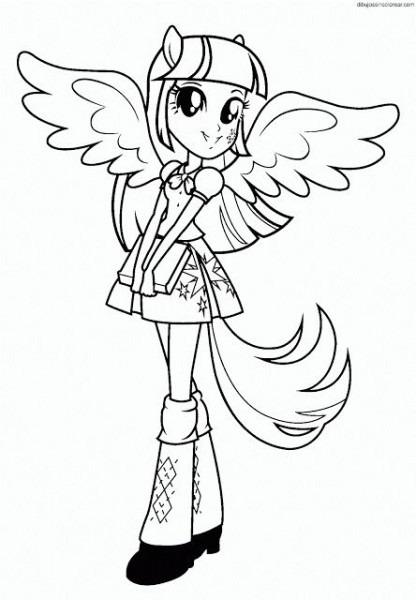 Colorear My Little Pony Equestria Girl