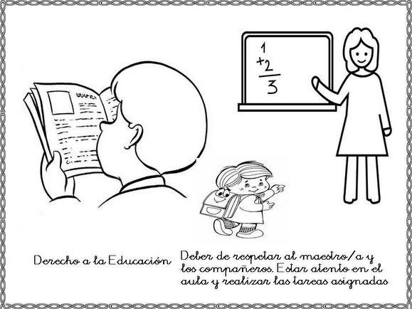 Dibujos Para Colorear Sobre Derechos Y Obligaciones De Los Niños