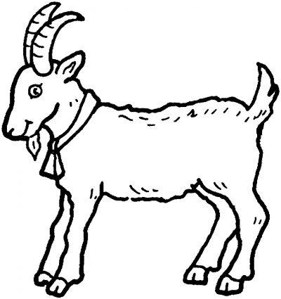 Dibujo De Cabras  Dibujo Para Colorear De Cabras  Dibujos