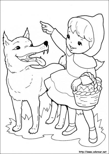 Dibujos De Caperucita Roja Para Colorear En Colorear Net