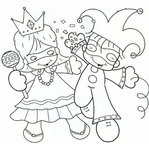 Festejando El Carnaval – Dibujos Para Colorear