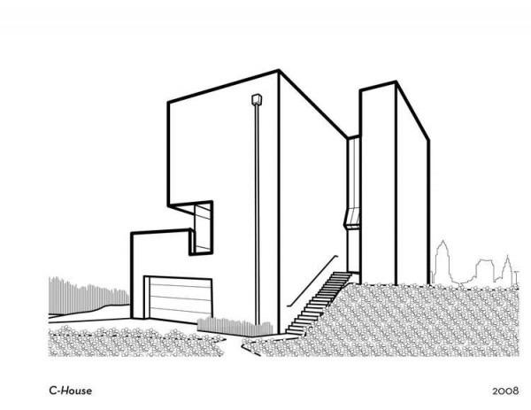 Imagenes De Edificios Modernos Para Colorear