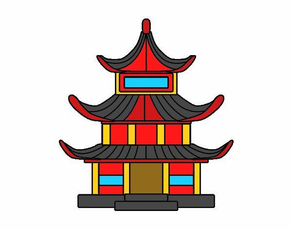Dibujo De Casa Tradicional Japonesa Pintado Por En Dibujos Net El