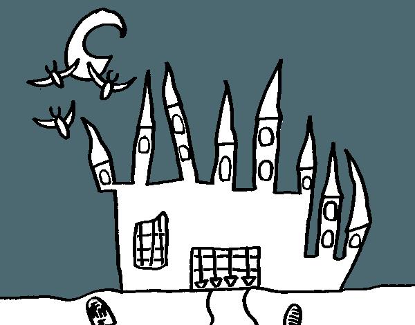 Dibujo De Castillo Del Terror Para Colorear